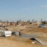 Damaged houses and debris are seen throughout the area due to Hurricane Ike. FEMA/Jocelyn Augustino.