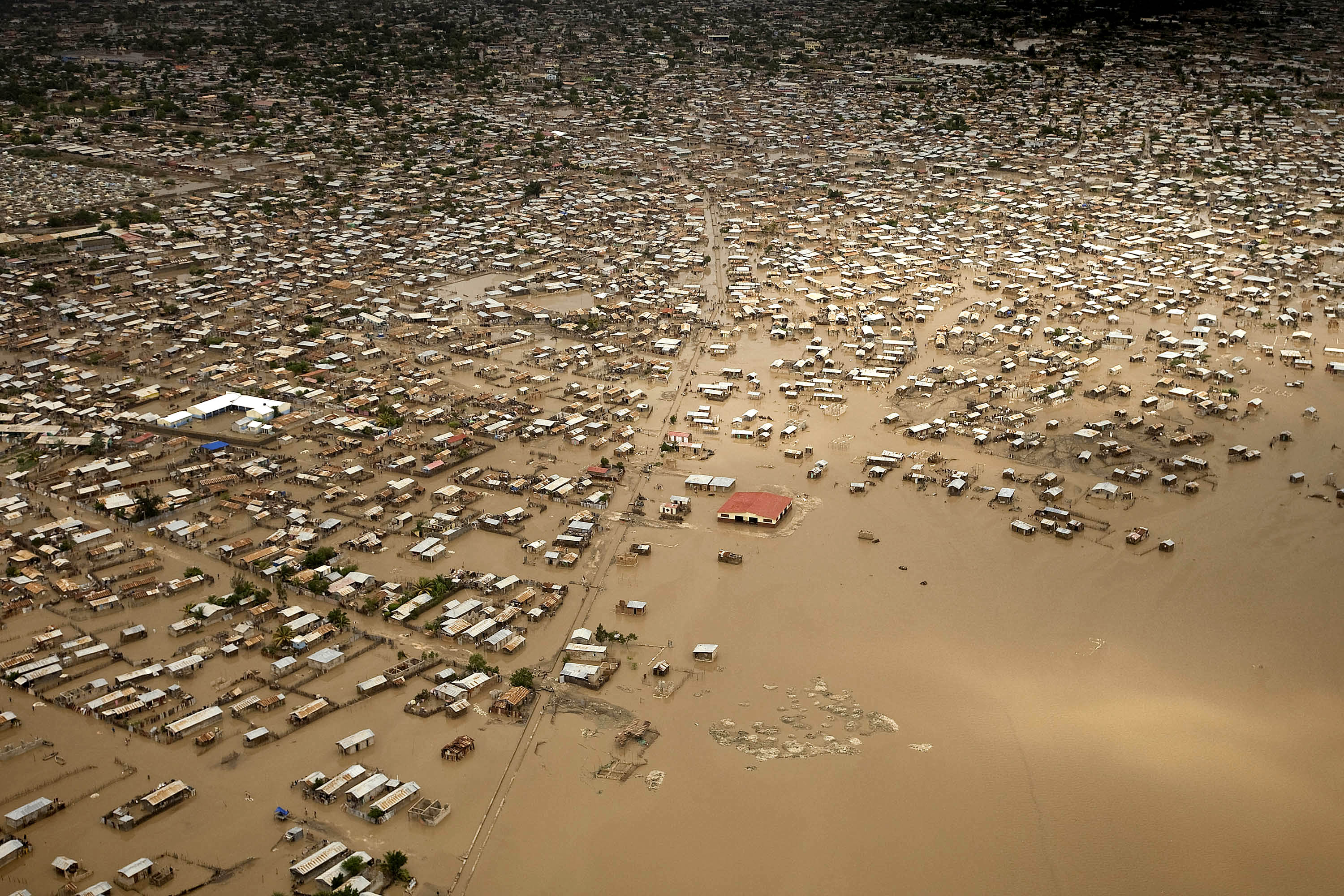 Areal view of Gonaives after the passing of tropical storm Hanna. UN ...