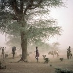 A sandstorm on the western shore of Lake Baringo, Kenya. UN Photo by Ray Witlin.