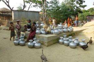 Water point in Nayapara UNHCR camp