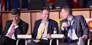 Manuel Sanchez-Montero (AECID), Peter Maurer (ICRC President) and Ed Schenkenberg